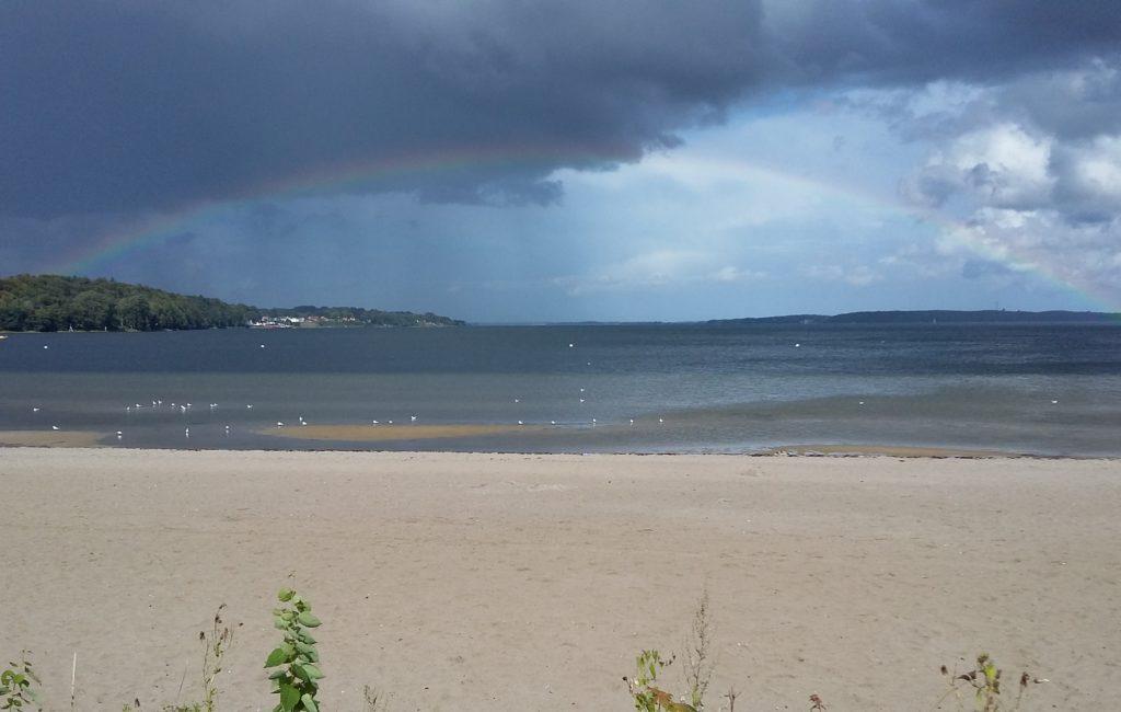 Rainbow über der Flenburger Förde