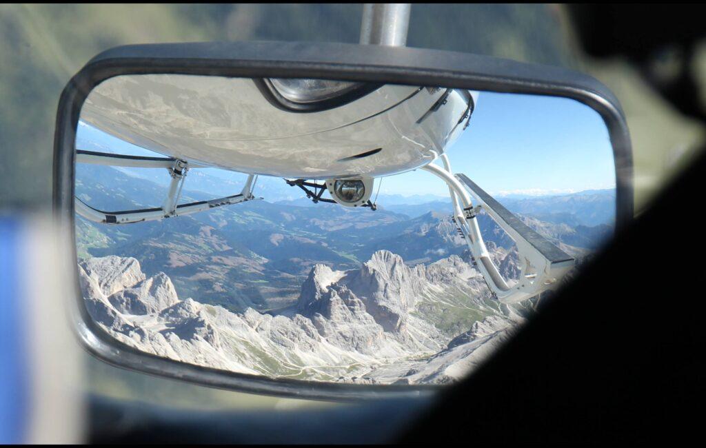 Con l'elicottero sopra il Tre Cime di Lavaredo