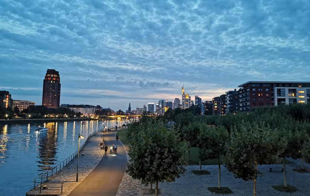 Abends in Frankfurt am Main